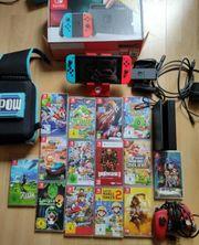 Nintendo switch mit 14games und