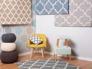 Teppich hellblau 140 x 200
