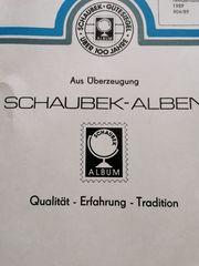 Vordruckblätter für Briefmarken vom Schaubek