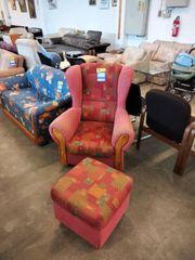 Sessel mit Hocker 86x86 - HH03075