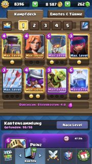 Clash Royale Account Turmlevel 13