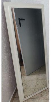 100cm weisser Garderobenspiegel