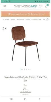 Stuhl Stühle - Samt-Polsterstühle