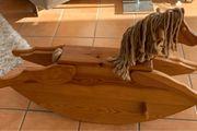 Schaukelpferd Holz Massiv sehr stabil
