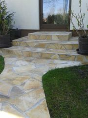 Natursteinplatten Polygonalplatten Einfahrt Terrasse Fassade