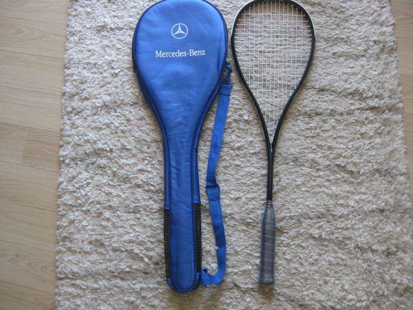 Original Mercedes-Benz Squashschläger mit Hülle