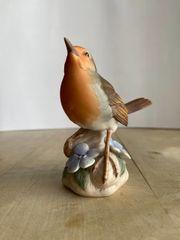 Porzellanfigur Rotkehlchen Vogel des Jahres