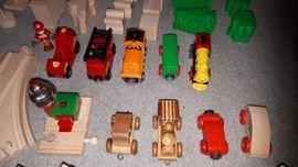 Bild 4 - Eisenbahn Holz Set gross Schienen - Lorsch