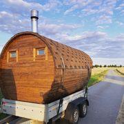 mobile Sauna mieten Panoramasauna Fasssauna