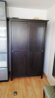 1 Ikea Hemnes Kleiderschrank schwarzbraun