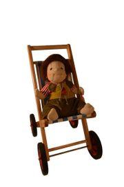 Puppenbuggy Wälderspielzeug stabil aus Holz