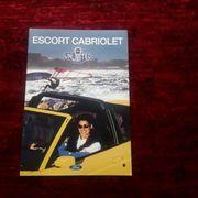 Autoprospekt Ford Escort Cabrio von