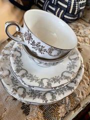 Kaffee Geschirr für Silber Hochzeit