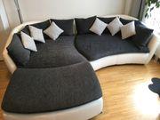 Sofa weiß dunkelgrau