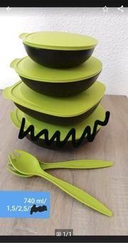 Tupperware Allegra Set mit Salatbesteck