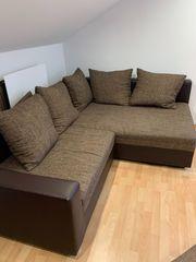 Kompakte Couch Sofa braun mit