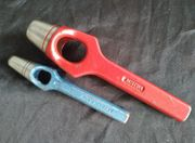 2-tlg Locheisen aus Werkzeugstahl von