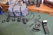 Analoge komplette Fotoausrüstung