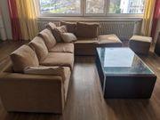 L-förmiges Sofa Puffy Beige L