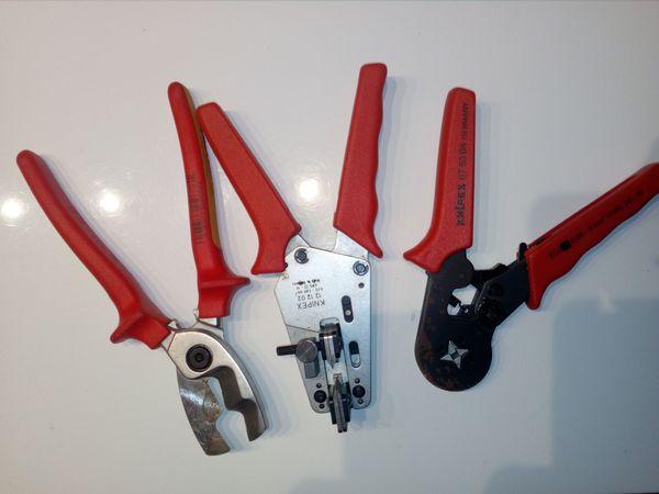 3 verschiedene Knipex-Zangen