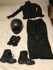 Motorradbekleidung Frauen Komplettausstattung Helm Hose