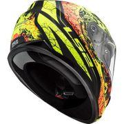 Helm LS2 THRONE mattschwarz-neon Gr