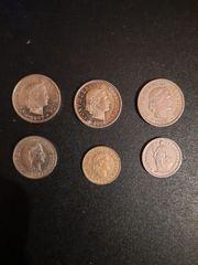 Münzen 6 Schweizer Franken