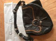 Christian Dior Echtleder Handtasche -Saddle-