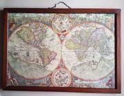 historische Weltkarte ca 53 x