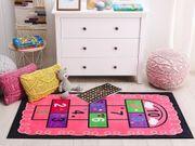 Kinderteppich rosa mit Hüpfspiel 80