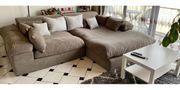 Ecksofa -Couch- grau- braun