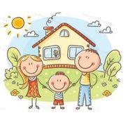 Ruhige junge 3 köpfige Familie