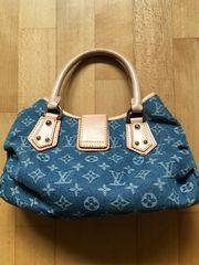 Designer Handtaschen - Jeansstoff mit LV-Logo -