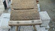 Antiker-Holzhocker- 50 -60 -jah