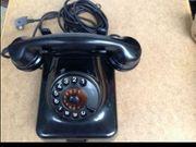 Samler Altes schwarzes Telefon Retro