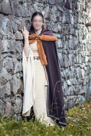 Mittelalter Fantasy Fasching Mantel Umhang