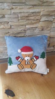 Kissen Nikki Weihnachten Nikolaus Bär