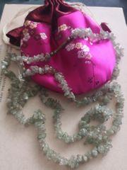 lange Quarz Halskette