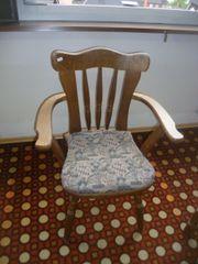Küchenstuhl rustikal mit Lehne