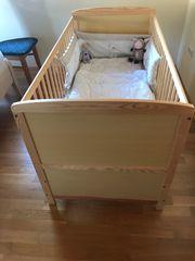 Kinderbett mit Rost und Matratze