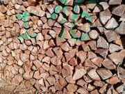 Brennholz trocken gespalten