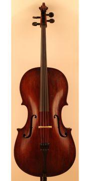 Altes Cello Violoncello mit Zettel