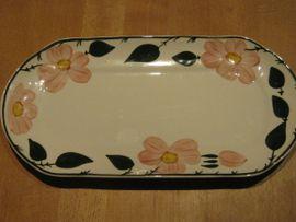 Geschirr und Besteck - WILD-ROSE 2 x ovale Platten