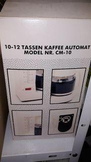 Kaffeemaschine Filterkaffee nie benutzt