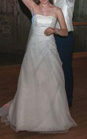 Schönes schlichtes Hochzeitskleid Gr 36