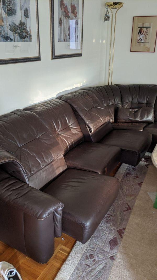 Eck Couch Leder