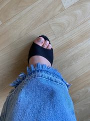 Ich verkaufe getragene Nylons Socken