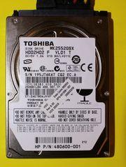 Toshiba Festplatte HDD2H02 - MK2552GSX - 250