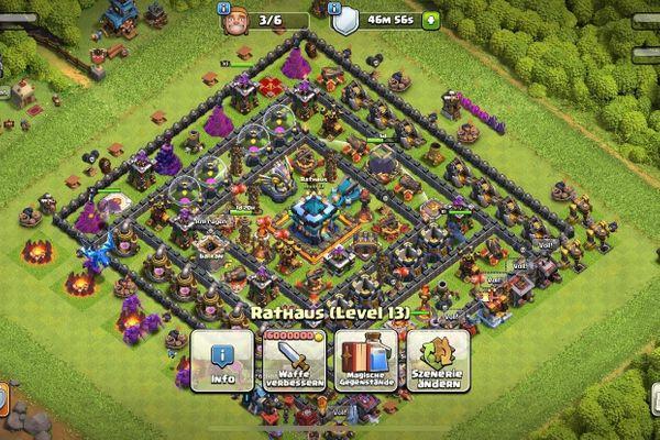 clash of clans account rh13