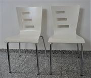 2 Designer Stühle weiß TOP